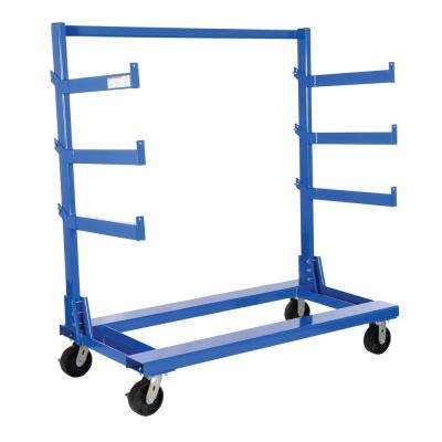 31.6 in. x 62.5 in. x 64.8 in. Portable Cantilever Cart