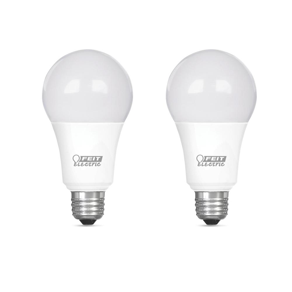 Feit Electric 75-Watt Equivalent A19 Dimmable CEC Title 24 Compliant LED ENERGY STAR 90+ CRI Light Bulb, Soft White (2-Pack)