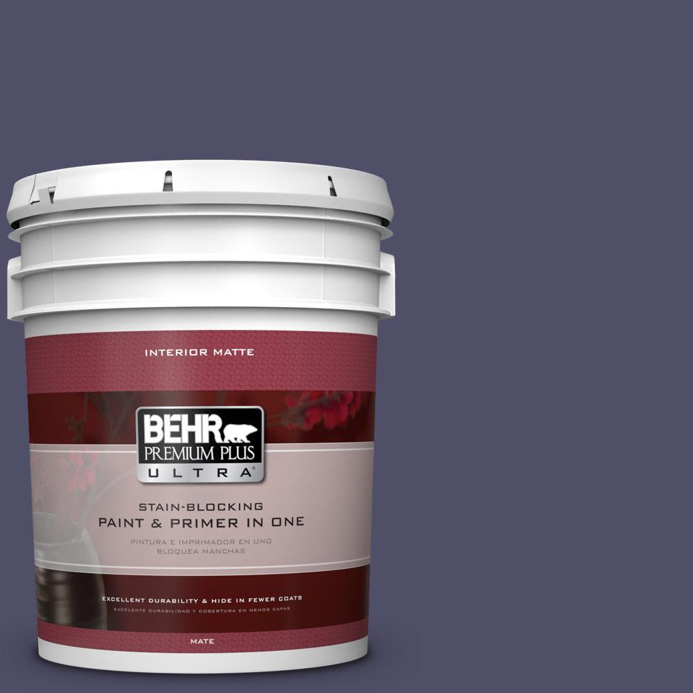 5 gal. #640F-7 Academy Purple Flat/Matte Interior Paint