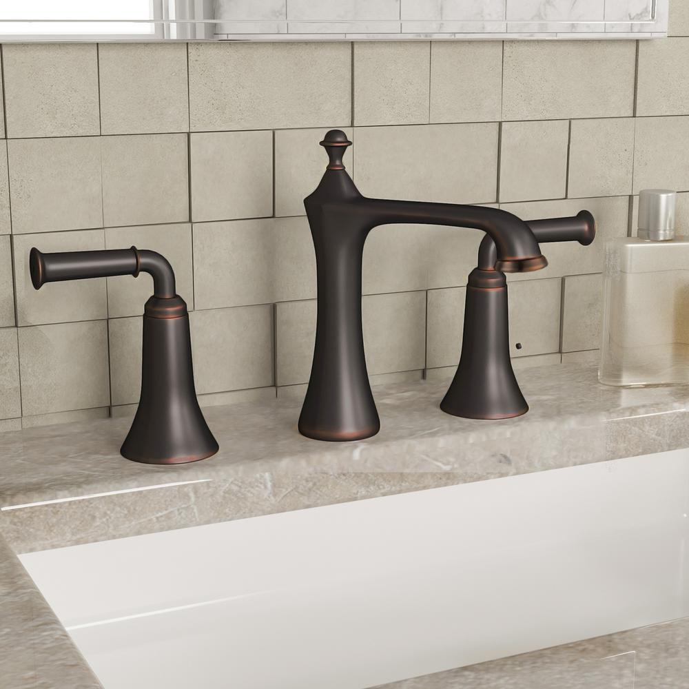 Yosemite Home Decor 8 In. Widespread 2-Handle Bathroom Faucet In Oil Rubbed Bronze With Pop-Up