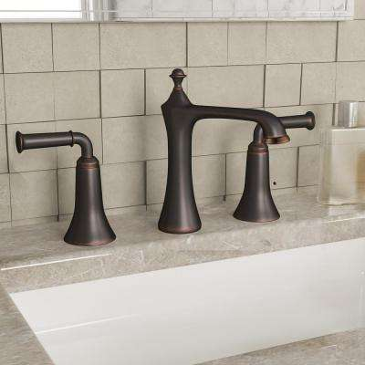 8 in. Widespread 2-Handle Bathroom Faucet in Oil Rubbed Bronze with Pop-Up Drain