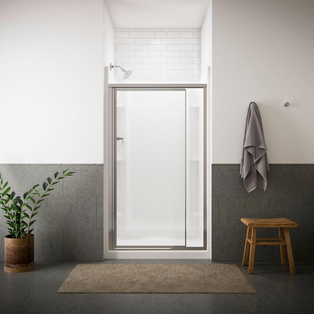 STERLING Vista Pivot II 42 in. x 65-1/2 in. Framed & STERLING Vista Pivot II 42 in. x 65-1/2 in. Framed Pivot Shower Door ...