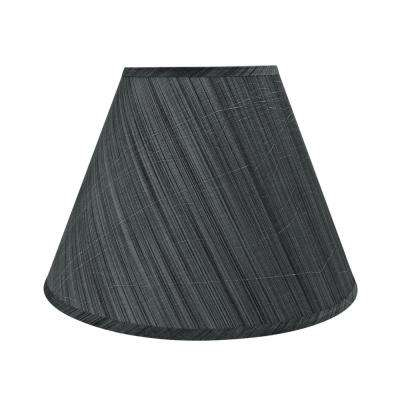 15 in. x 11 in. Grey and Black and Striped Pattern Hardback Empire Lamp Shade