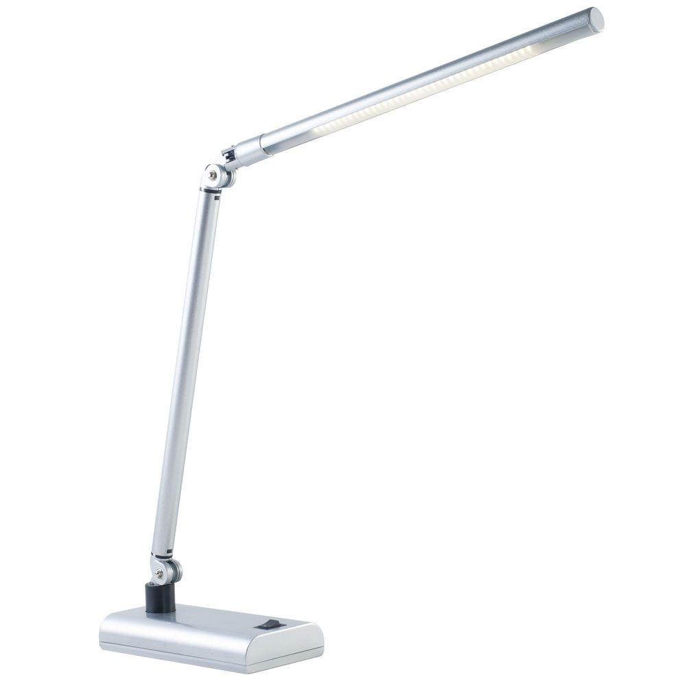 Silver Led Contemporary Energy Saving Desk Lamp