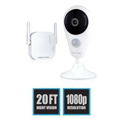 4-Channel 1080p 16GB MicroSD Card Wireless Surveillance System with 1-Wireless Indoor Camera
