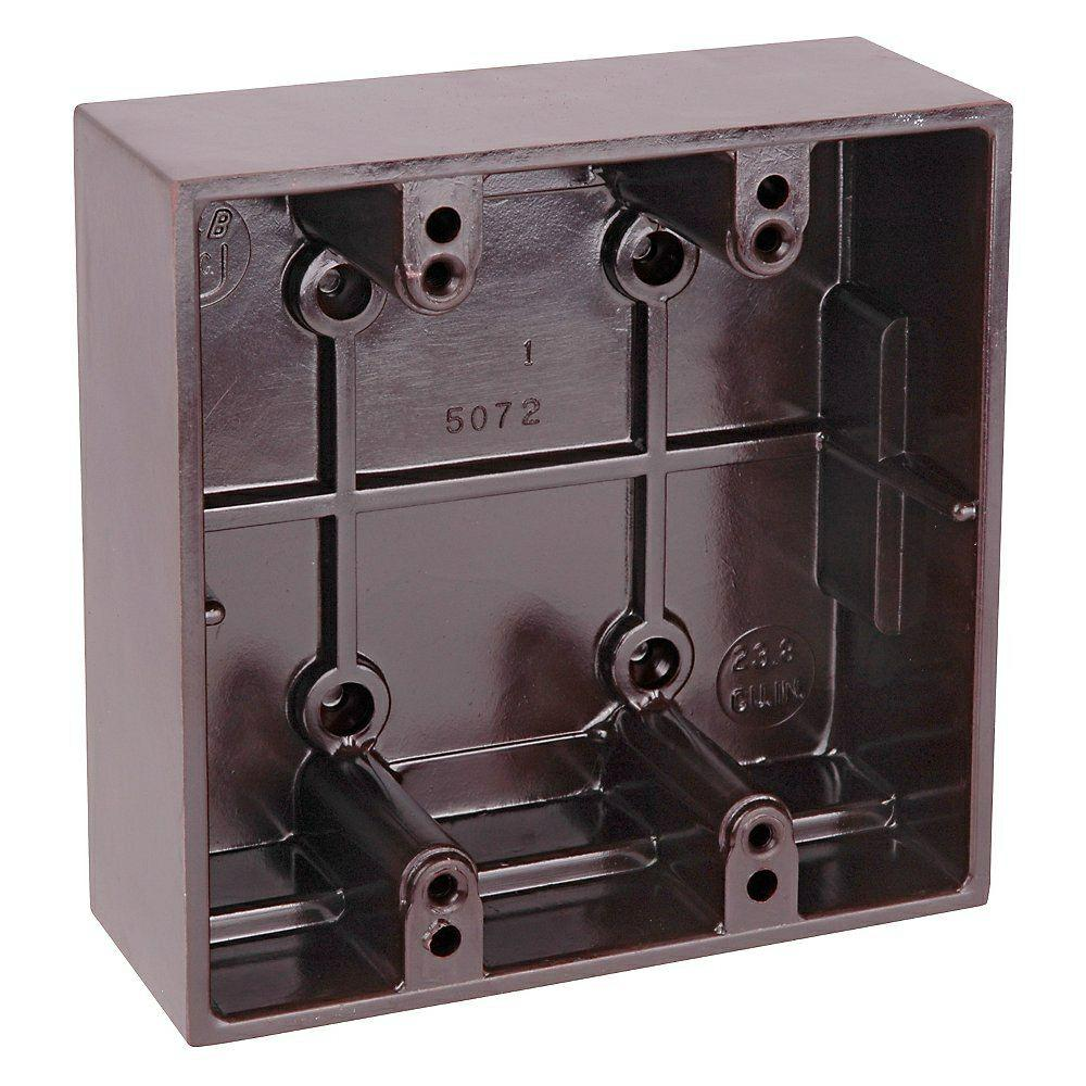 Carlon 2 Gang 23 8 Cu In Old Work Brown Phenolic Surface Mount Electrical Box 5072 Brown 12r The Home Depot