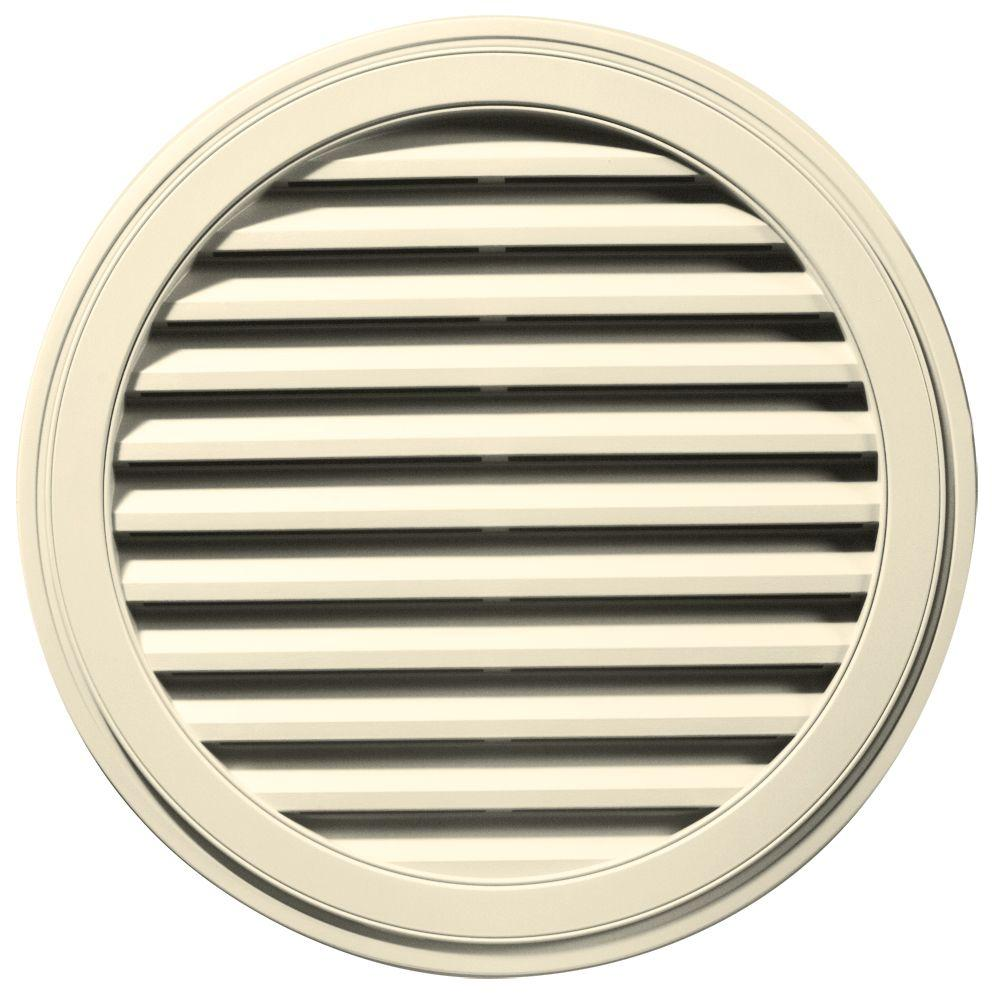 36 in. Round Gable Vent in Cream
