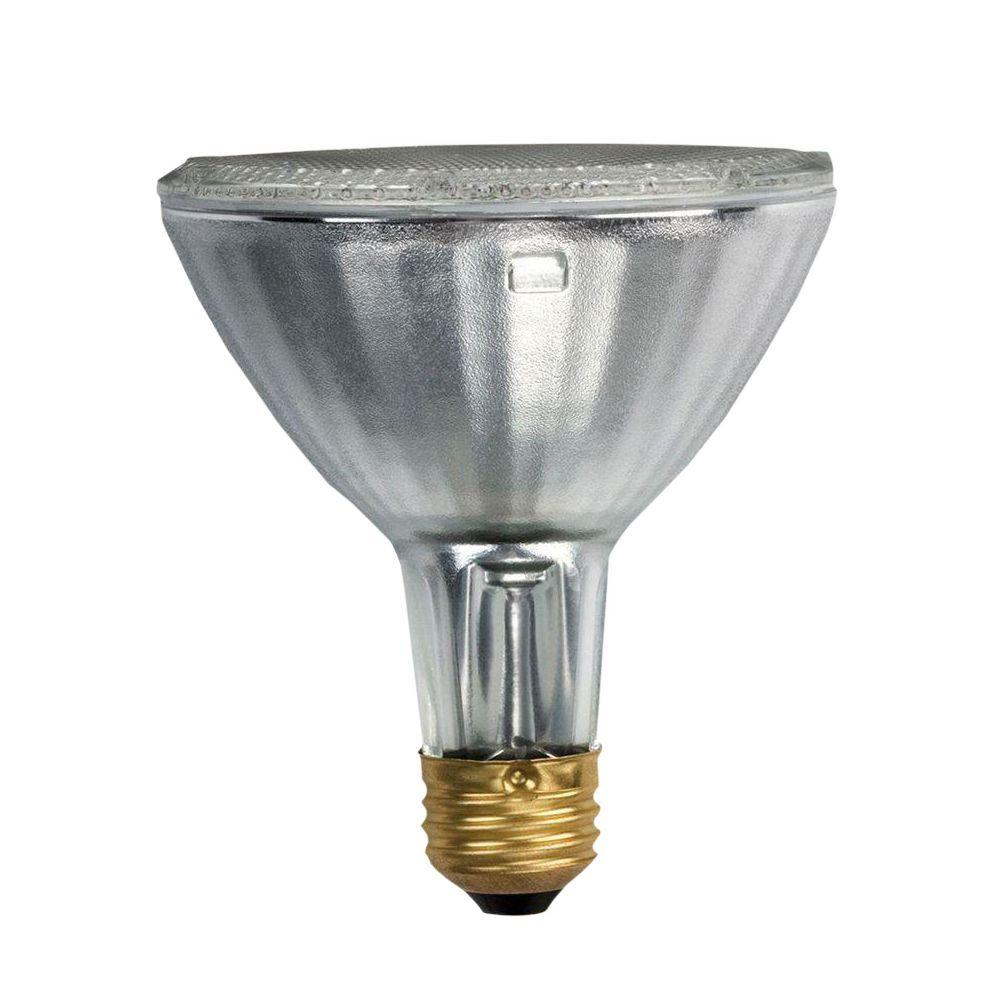 Philips 75-Watt Equivalent Halogen PAR30L Dimmable Indoor/Outdoor Flood Light Bulb (32-Pack)