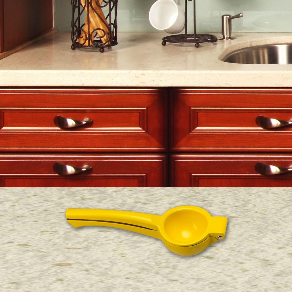 Home Basics Steel Yellow Lemon Squeezer