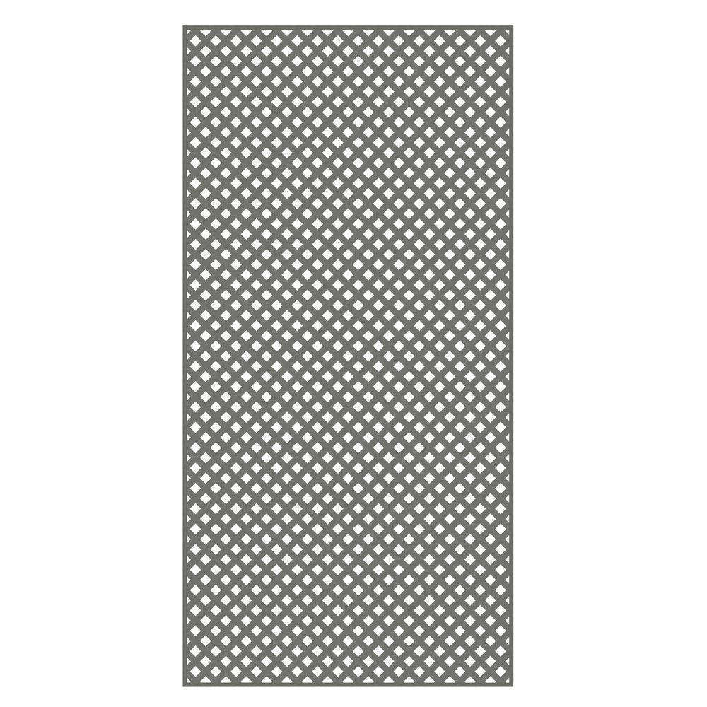 Veranda 0.2 in. x 48 in. x 8 ft. Nantucket Gray Vinyl Privacy Diamond Lattice