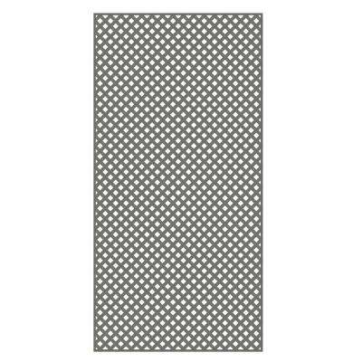 0.2 in. x 48 in. x 8 ft. Nantucket Gray Vinyl Privacy Diamond Lattice