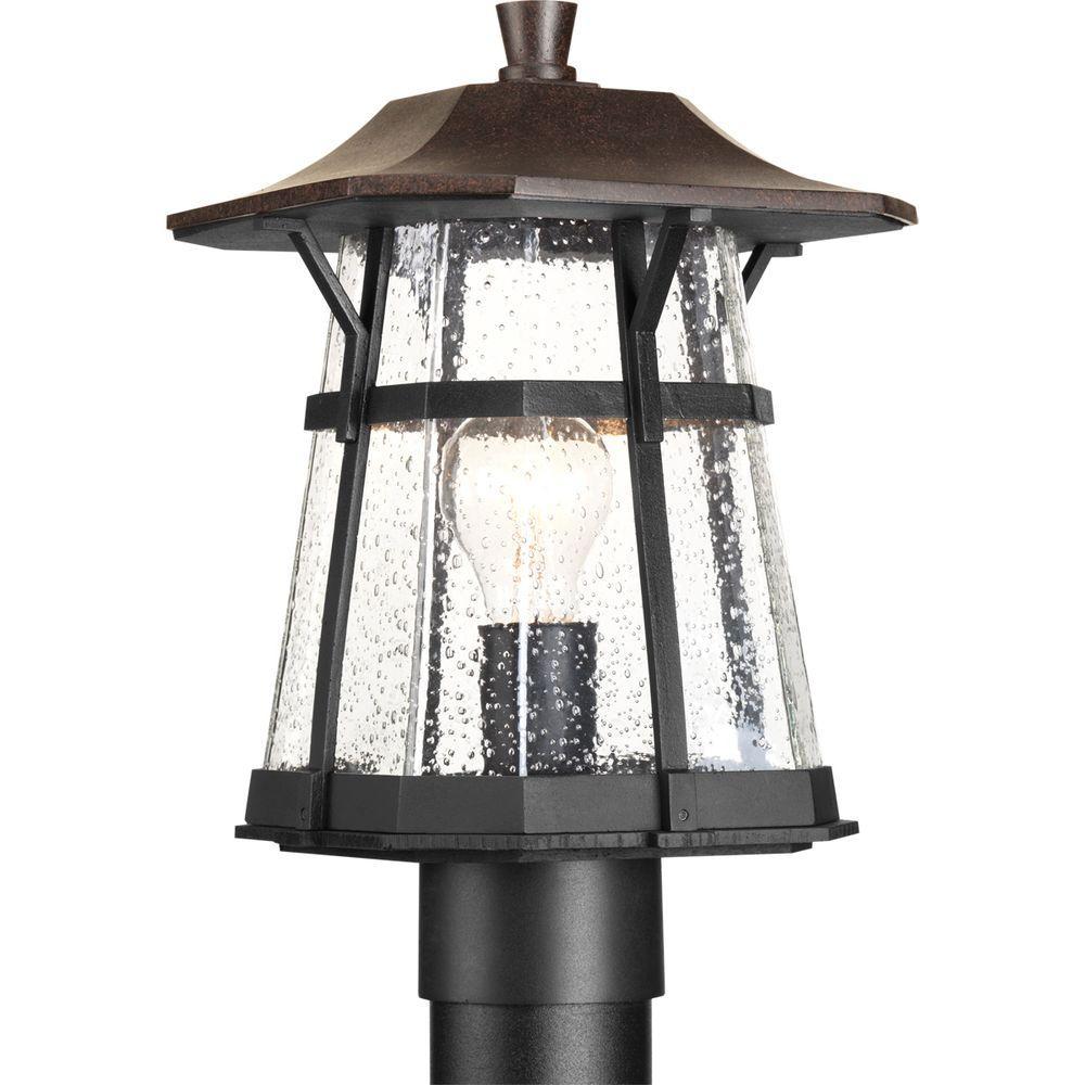 Derby Collection 1-Light Espresso Outdoor Post Lantern