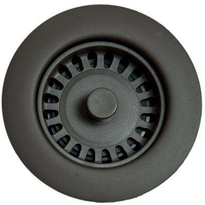 Xenoy Plastic Molded Garbage Disposal Stopper/Strainer for Granite Sinks in Oil Rubbed Bronze