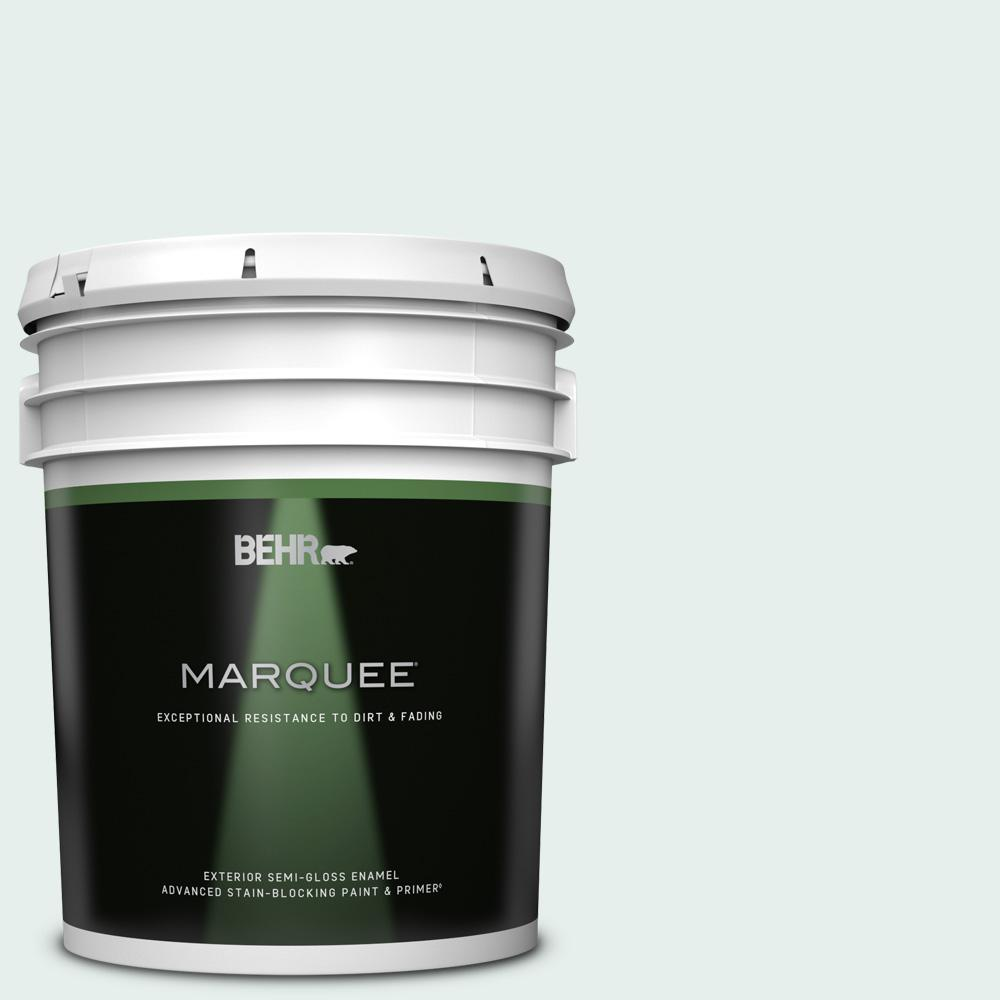 Behr Marquee 5 Gal 730e 1 Polar White Semi Gloss Enamel Exterior Paint And Primer In One 545005 The Home Depot