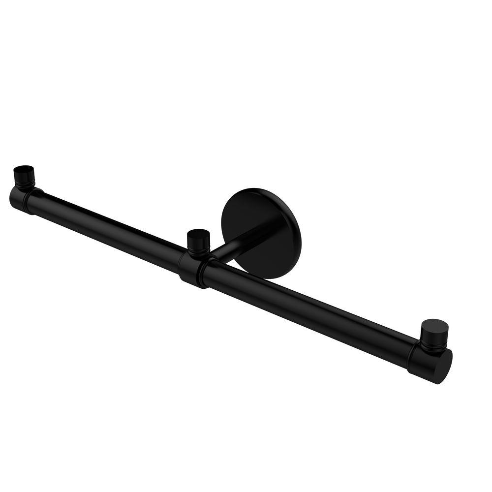 Prestige Skyline Collection 2-Arm Guest Towel Holder in Matte Black