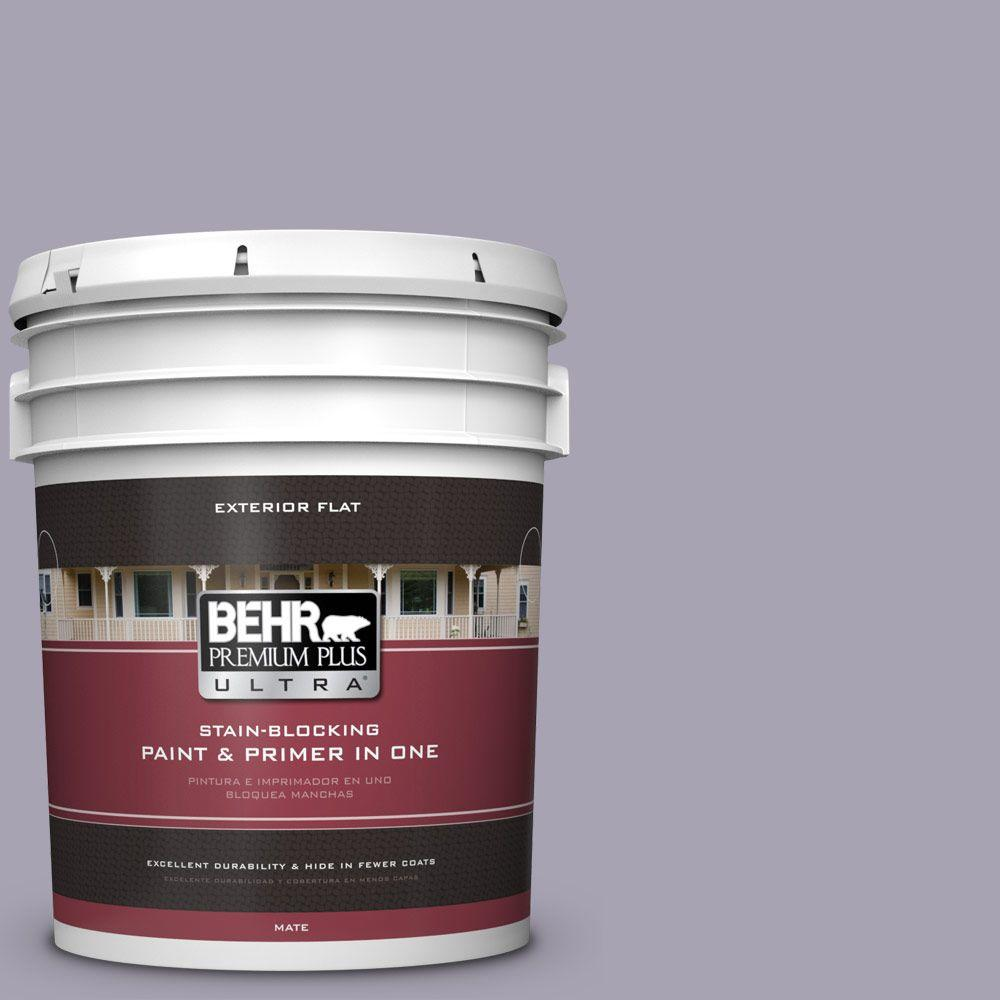 BEHR Premium Plus Ultra 5-gal. #N560-3 Luxe Lilac Flat Exterior Paint