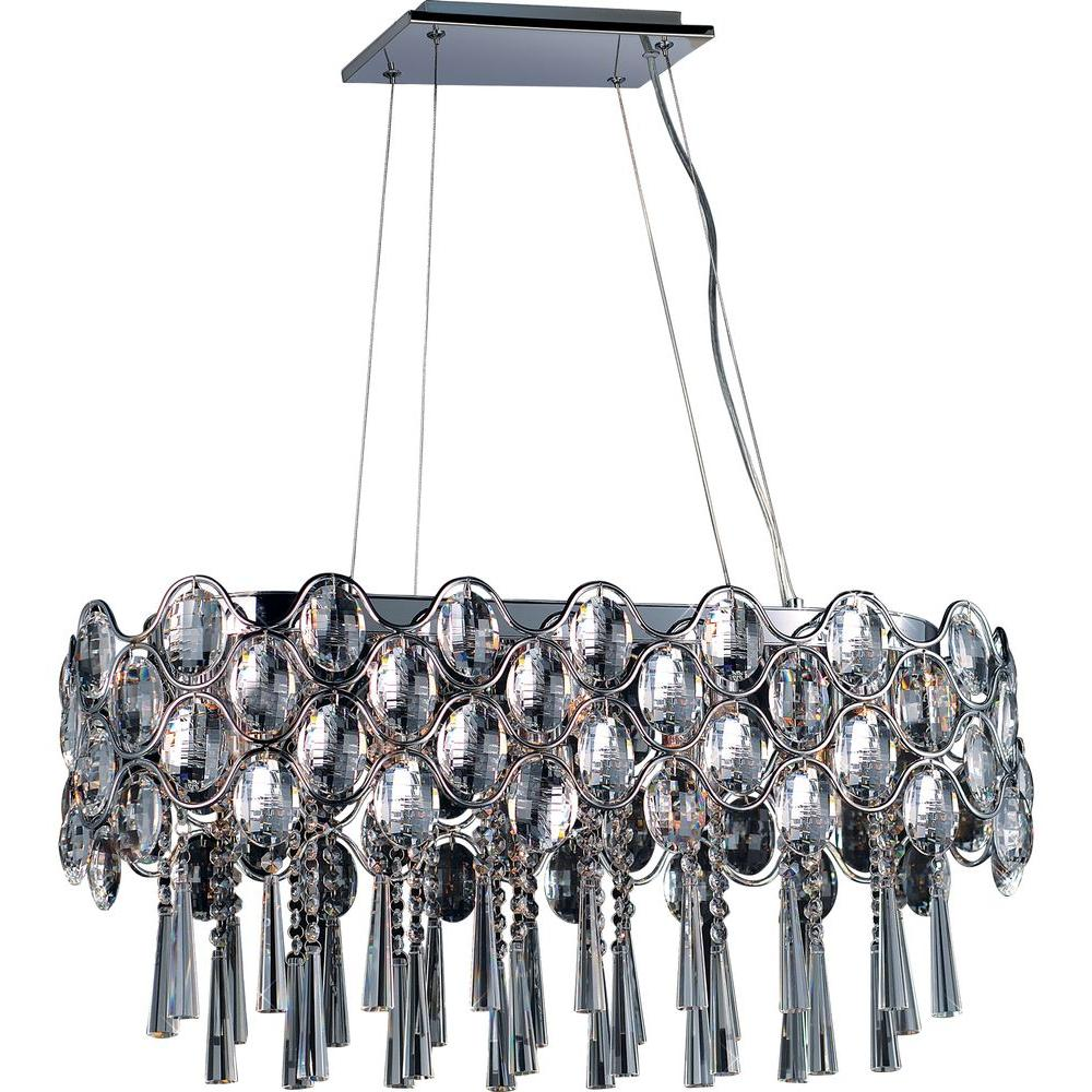 Maxim Lighting Jewel Light Polished Chrome Linear Pendant - Chandelier jewels crystals
