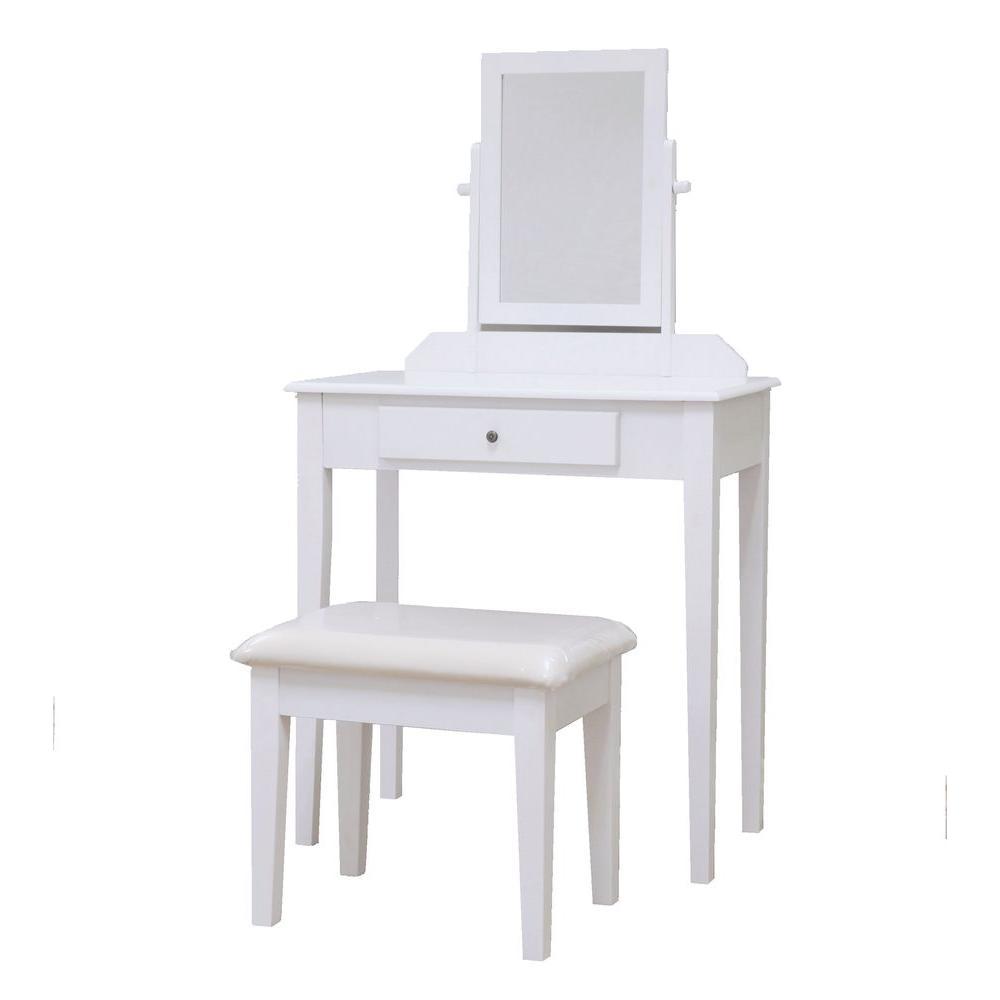 3-Piece White Vanity Set