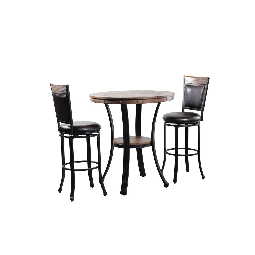 Powell Franklin 3 Piece Pub Table Set