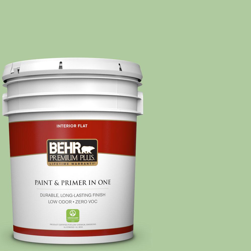 BEHR Premium Plus 5-gal. #440D-4 Desert Cactus Zero VOC Flat Interior Paint
