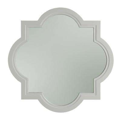 Evelyn 32 in. x 32 Framed Vanity Mirror in White