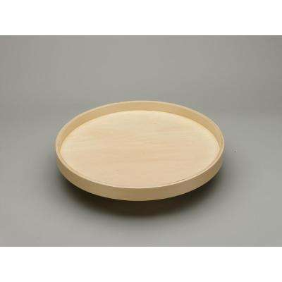 24 in. Banded Wood Full Circle Lazy Susan w/steel bearing