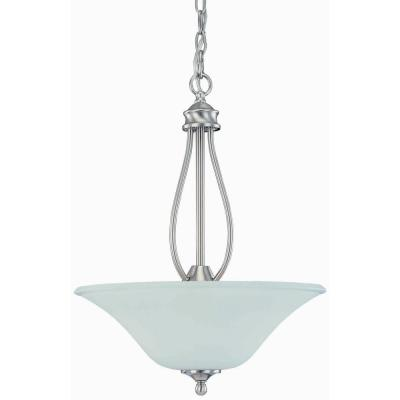 3-Light Brushed Nickel Pendant