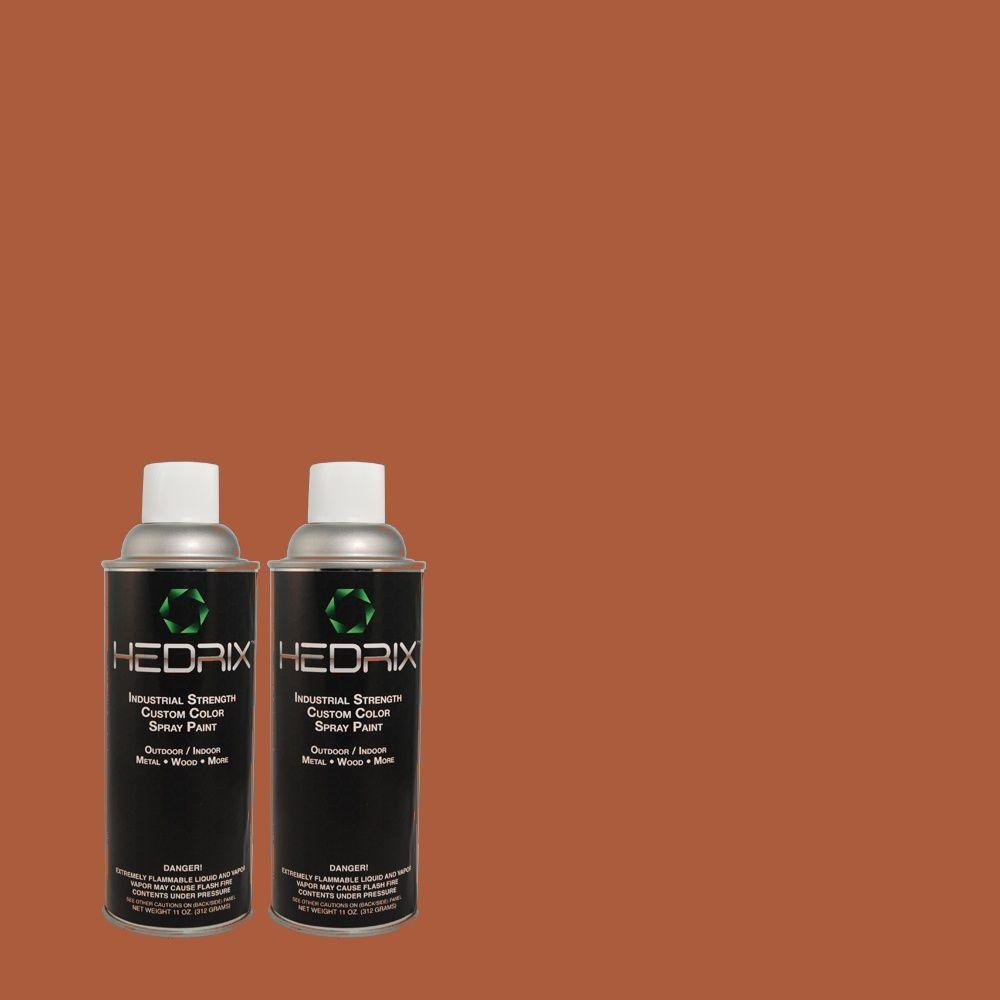 Hedrix 11 oz. Match of 210D-7 Firebrick Semi-Gloss Custom Spray Paint (2-Pack)