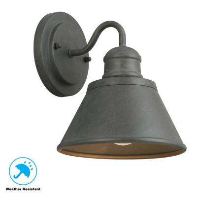 1-Light Zinc Outdoor Wall Lantern