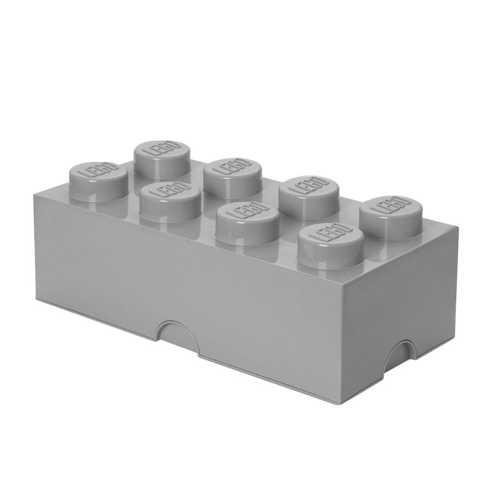 LEGO Medium Stone Grey Stackable Box