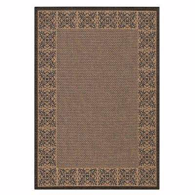 Summer Chimes Cocoa/Black 5 ft. 3 in. x 7 ft. 6 in. Area Rug
