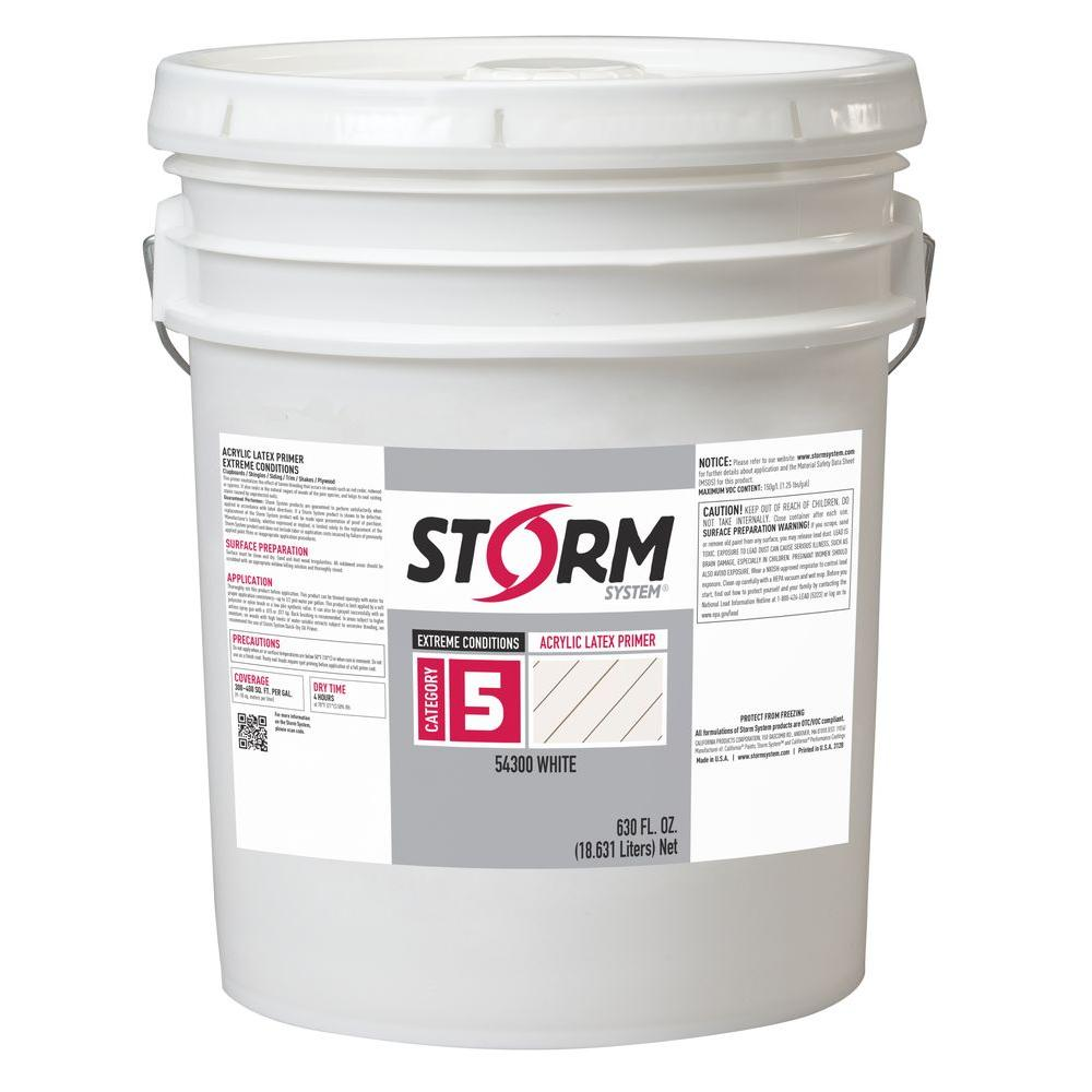 Category (5) 5 gal. White Exterior Wood Acrylic Latex Primer