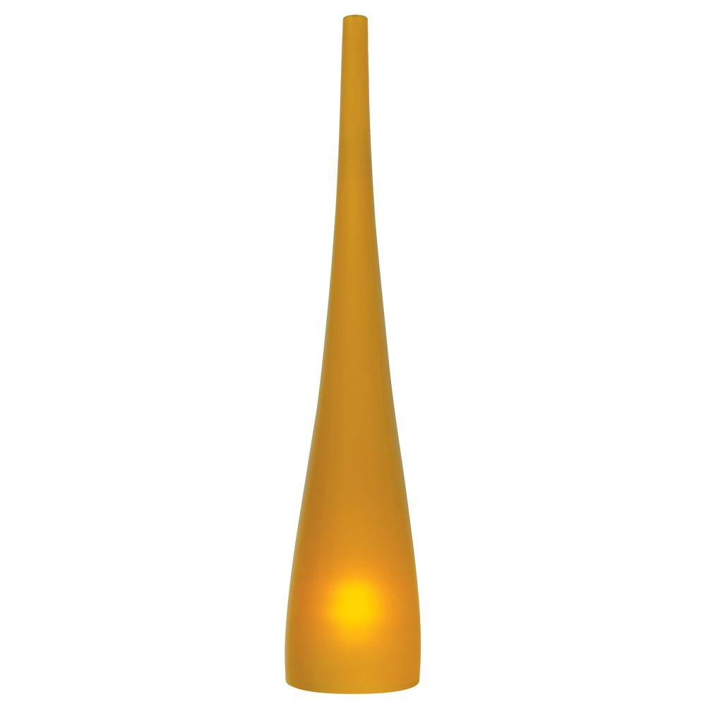 Cypree Small 1-Light Amber Satin Nickel Hanging Mini Pendant