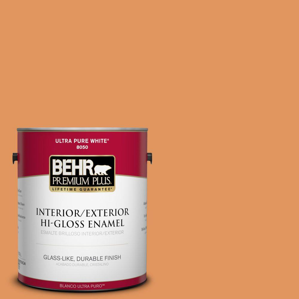 1-gal. #M230-6 Amiable Orange Hi-Gloss Enamel Interior/Exterior Paint