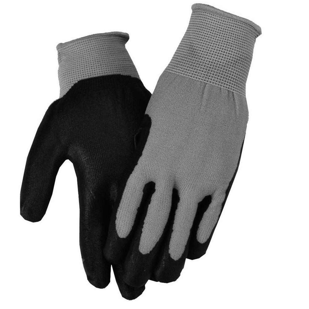 Gray Men's Nitrile Coated Gloves
