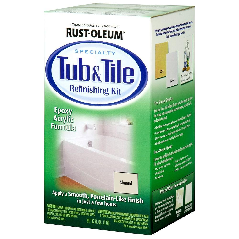 Rust-Oleum Specialty 1 qt. Almond Tub and Tile Refinishing Kit ...