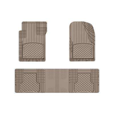Tan 56 in. x 16 in. Over The Hump Rubber Car Mat