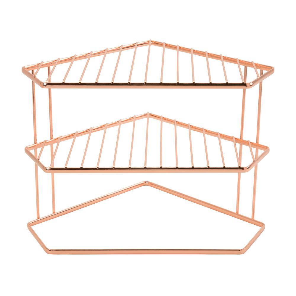 Geode Copper Corner Shelf
