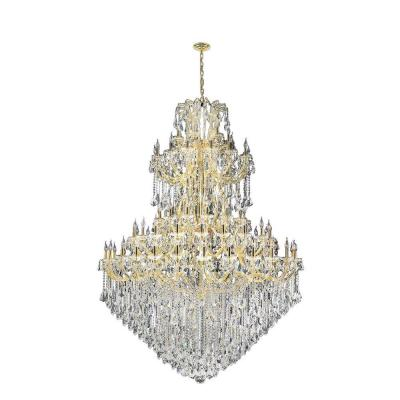 Maria Theresa 84-Light Polished Gold and Clear Crystal Chandelier