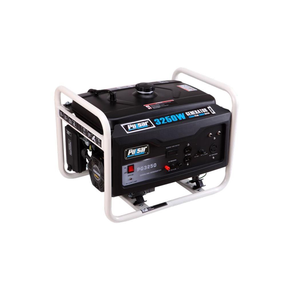 Pulsar 3,250-Watt Gasoline Powered Recoil Start Portable Generator with Ducar Engine by Pulsar