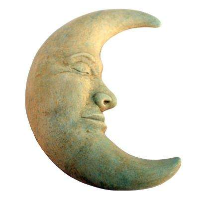 Cast Stone Large Moon Plaque - Weathered Bronze