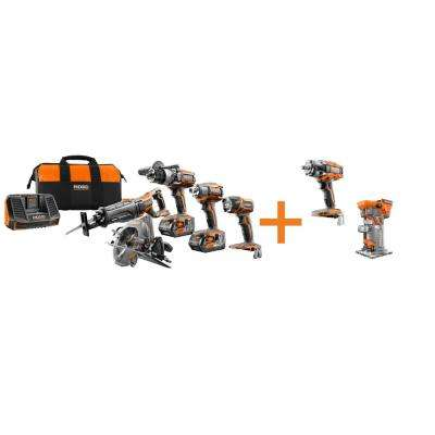 GEN5X 18-Volt 5 Piece Combo Kit with BONUS 18-Volt Brushless Impact Wrench and 18-Volt Brushless Trim Router