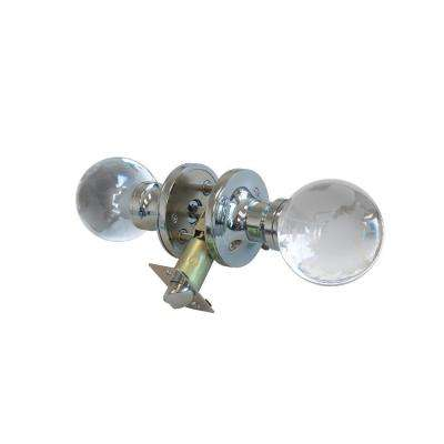 Globe Crystal Chrome Privacy Bed/Bath Door Knob with LED Mixing Lighting Touch Activated