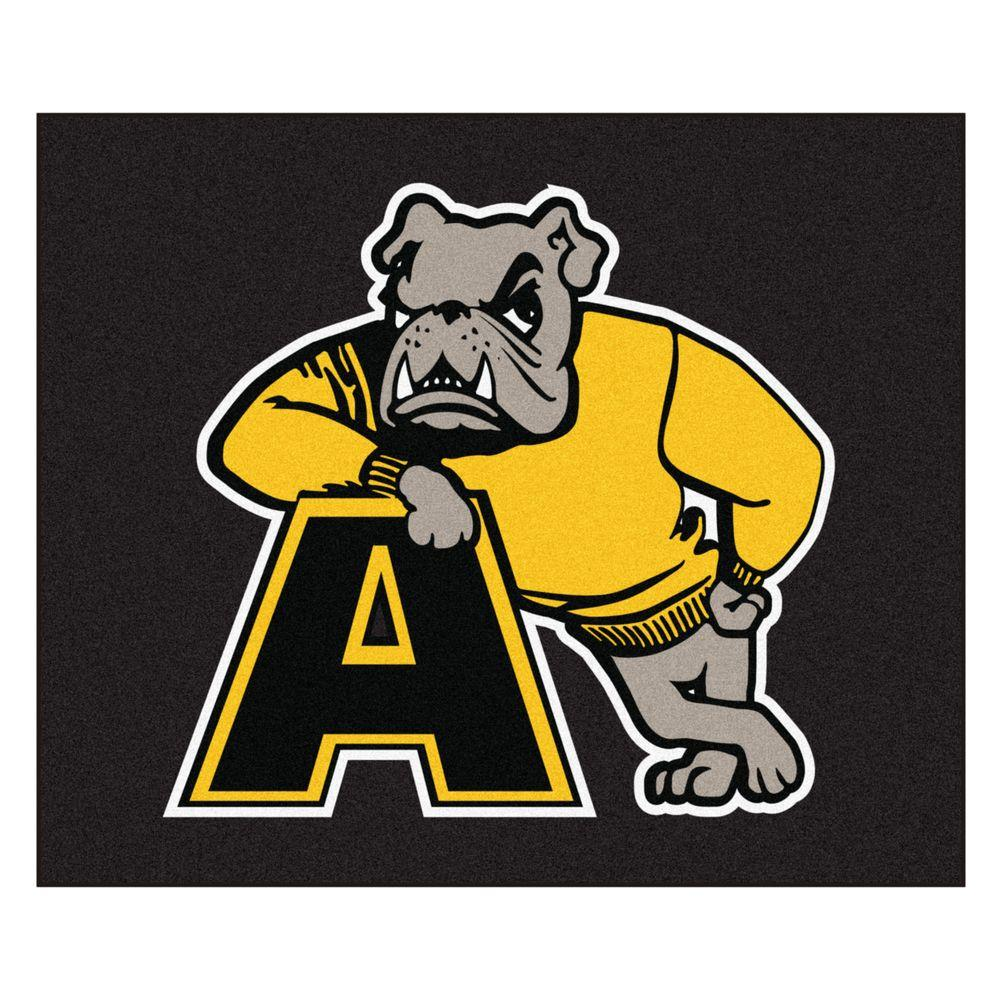 Fanmats Ncaa Adrian College Black 5 Ft X 6 Ft Area Rug