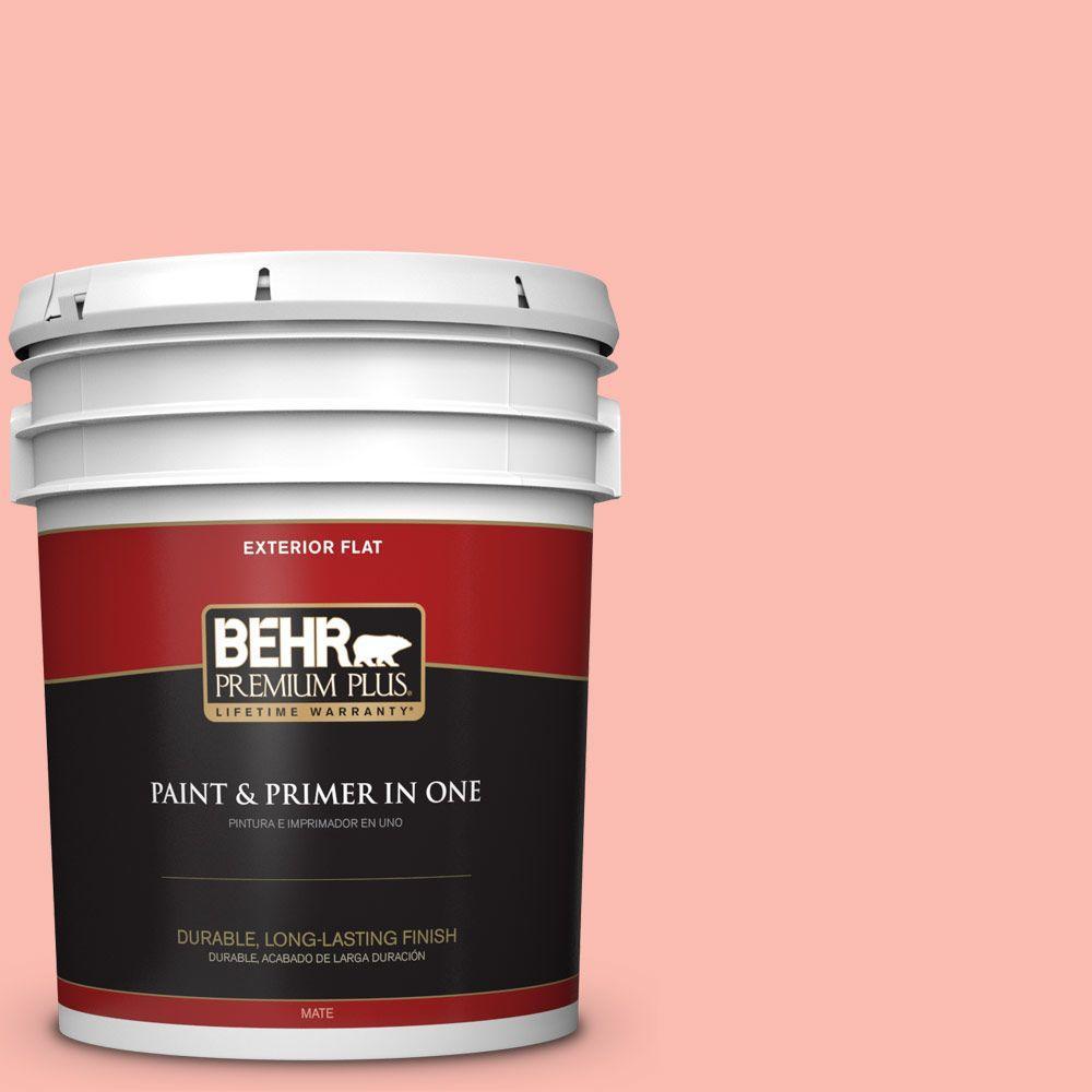 BEHR Premium Plus 5-gal. #190C-3 Sweet Nectar Flat Exterior Paint