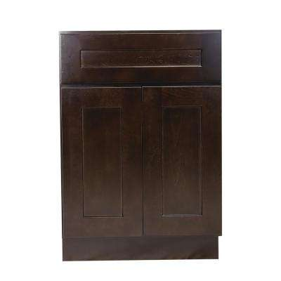 Brookings Fully Assembled 18x34.5x24 in. Kitchen Base Cabinet in Espresso