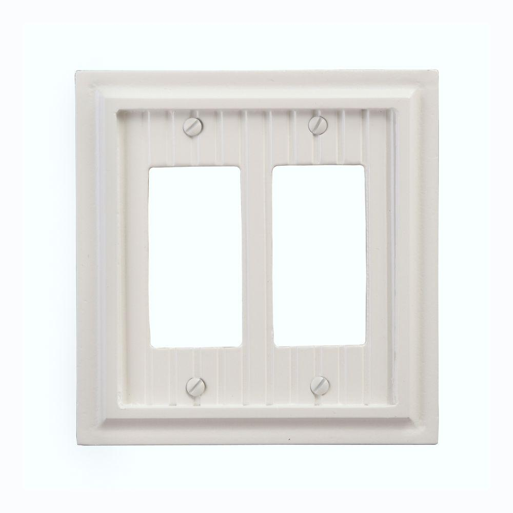 Amerelle Cottage 2 Decora Wall Plate - White