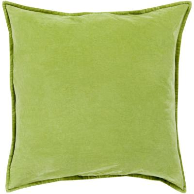 Velizh Olive Solid Polyester 22 in. x 22 in. Throw Pillow