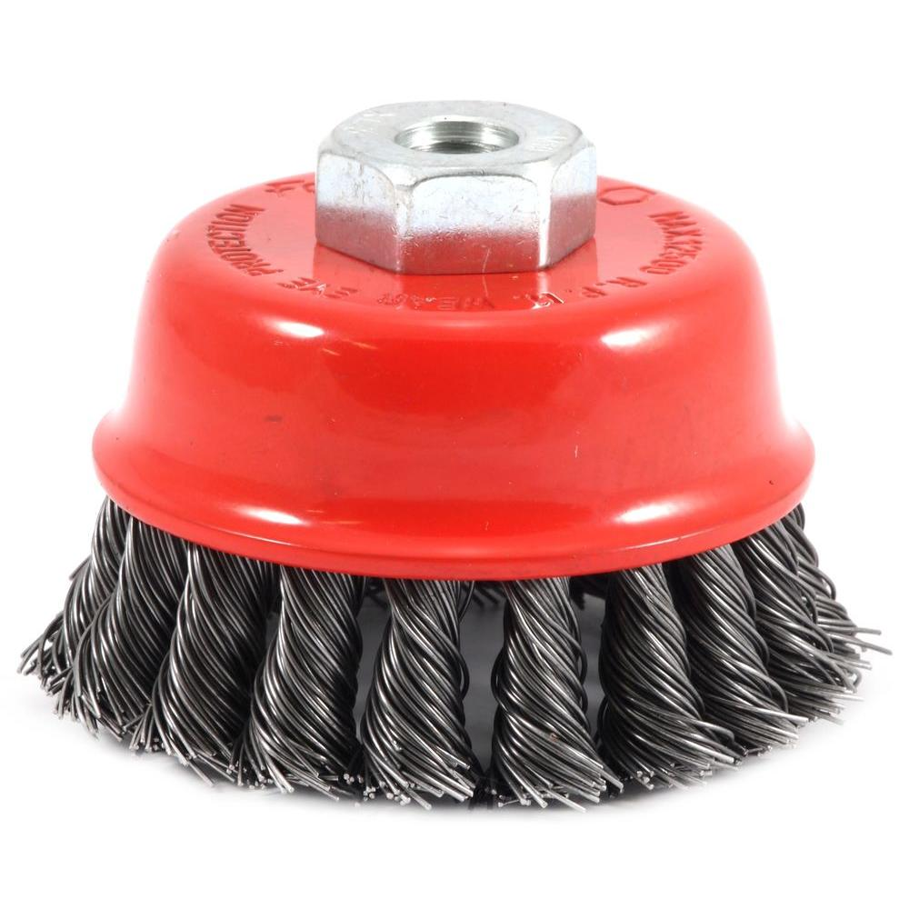 2-3/4 in. x M10 x 1.25 Arbor Knotted Wire Cup Brush