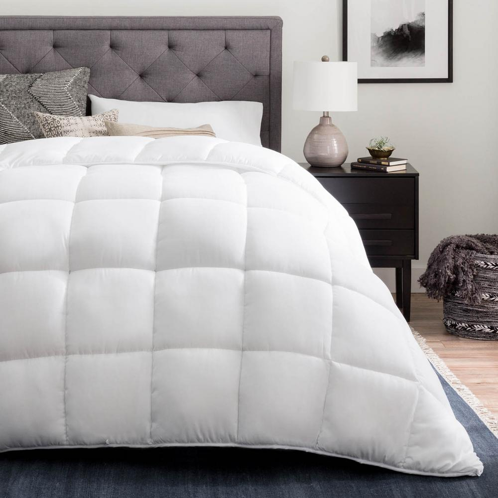 Brookside Brookside Down Alternative Reversible Quilted King Comforter in Grey/White, White/Grey